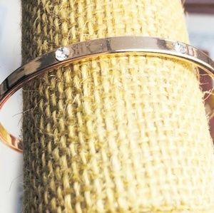 Alquimia Jewelry - 3 /35 ROSE GOLD DIAMOND BANGLE BRACELET